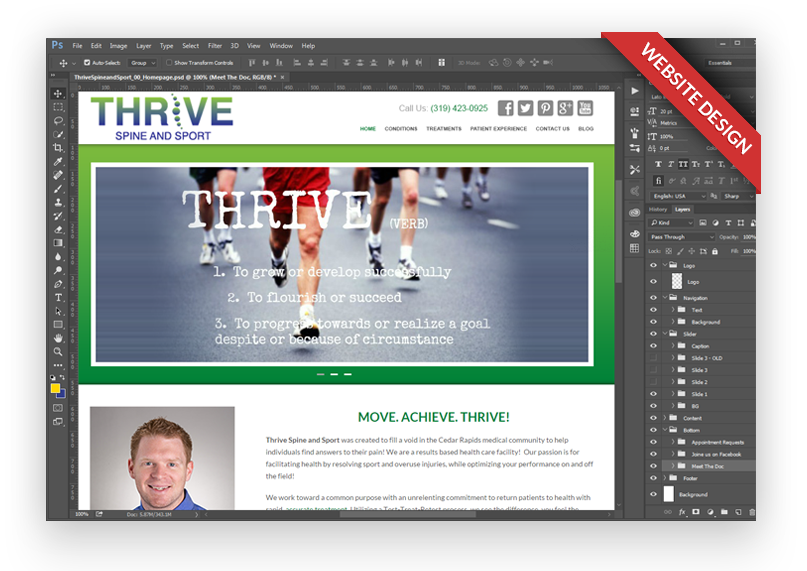 thrivespineandsport-custom-website-design