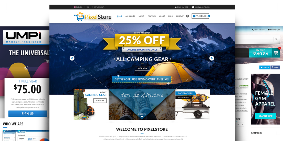 ecommerce online shopping cart website design