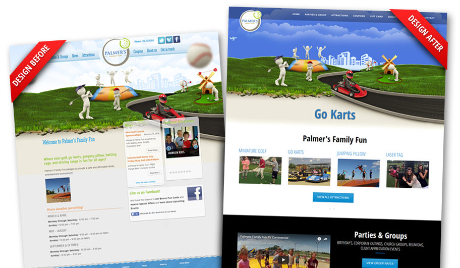 palmers-family-fun-custom-website-design-before-and-after