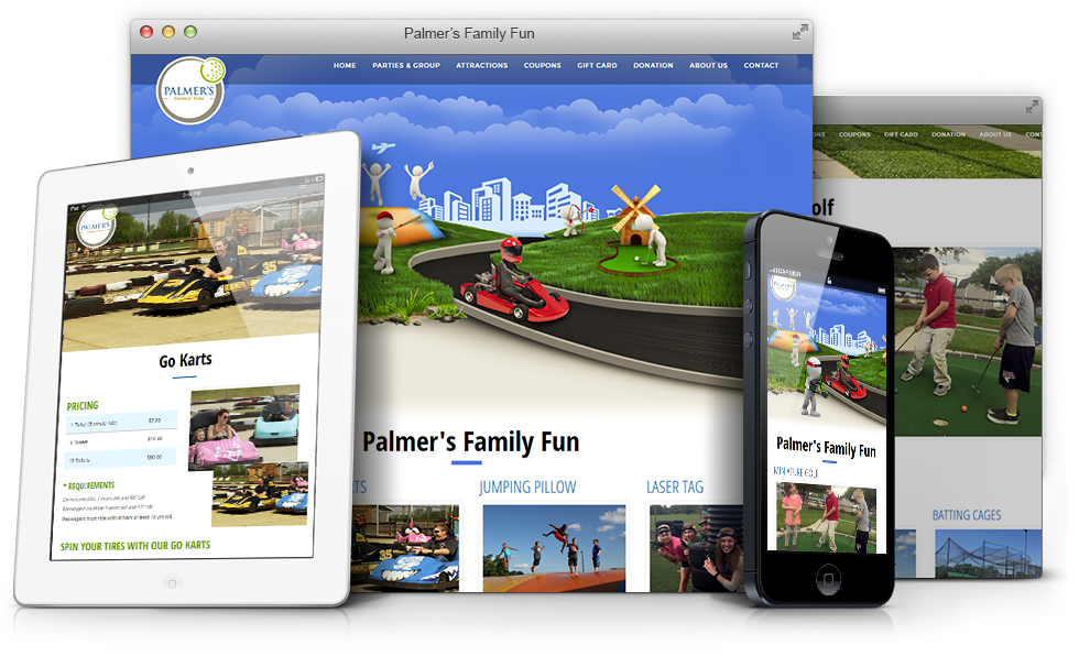 Palmers Family Fun - Custom Website Design and Development