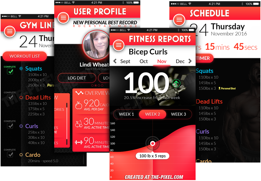 Mobile Fitness Application User Interface Design