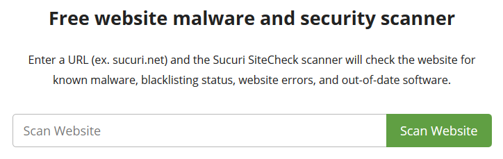 free website malware and security scanner